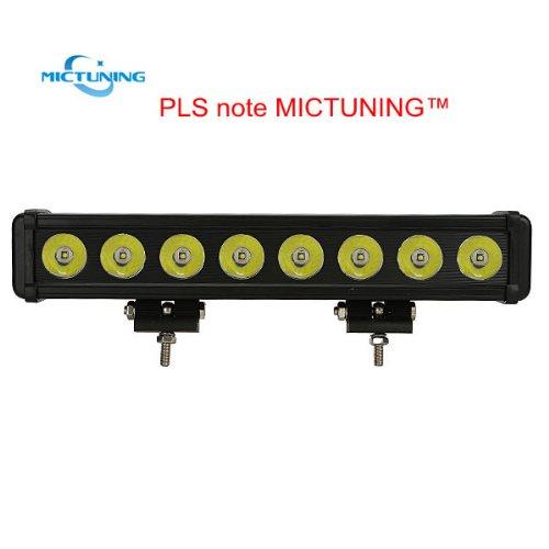 "Mictuning® Brand 15"" Long Distance Single Row Cree Led Light Bar Spot Beam - 10W*8 Led 10000 Lumen - Heady Duty 4¡Á4 Off Road Jeep Atv Utv"
