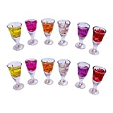 PeepalComm Wing Glass Shape Gel Candle (Set Of 12 PC)