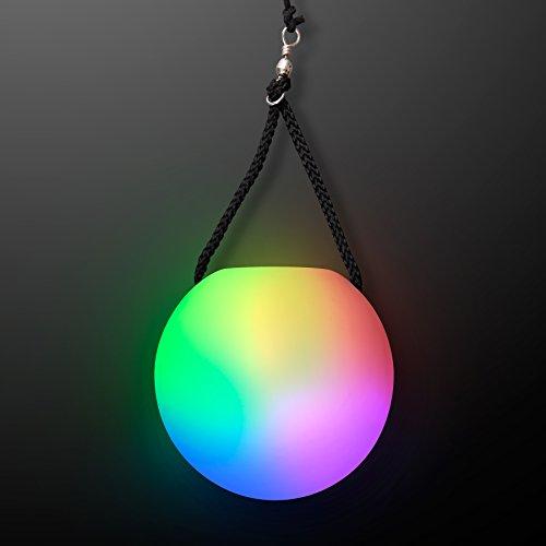 Led Poi Ball Swirling Light Rave Toy