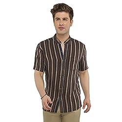 Attila Men's Casual Shirt (11065243S0_Blue Orange_44)