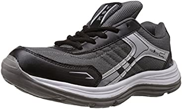 Vokstar Men's Grey and Black Running Shoes - 10 UK (V-235)