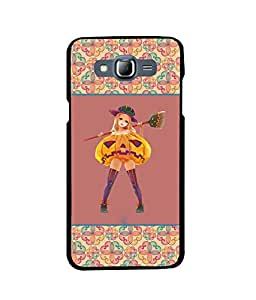 Fuson 2D Printed Girly Designer back case cover for Samsung Galaxy J7 - D4265