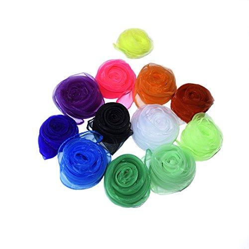 Juggling-Dance-Scarves-Dadoudou-Hemmed-Square-Rhythm-Band-Juggling-Scarves-Pack-of-12-Assorted-Color