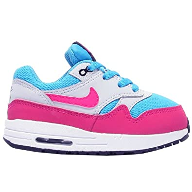 Nike Air Max 1 TD Blue Pink Kids Trainers Size 9.5 UK: Amazon.co