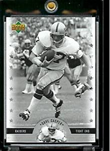 2005 Upper Deck Legends Dave Casper Oakland Raiders Football Card #54 - Mint Condition - In Protective Display Case