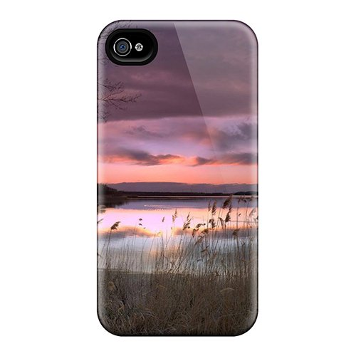 Dh-1450-Xdhi Case Cover, Fashionable Iphone 4/4S Case - Lake Forest A Beautiful Evening