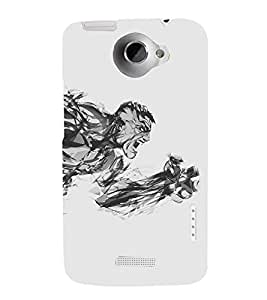 printtech Hero Sketch Back Case Cover for  HTC One Max Dual SIM