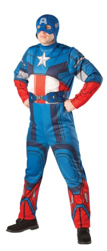 CAPTAIN AMERICA CLASSIC ADULTS FANCY DRESS OUTFIT MENS GENTS HALLOWEEN COSTUME