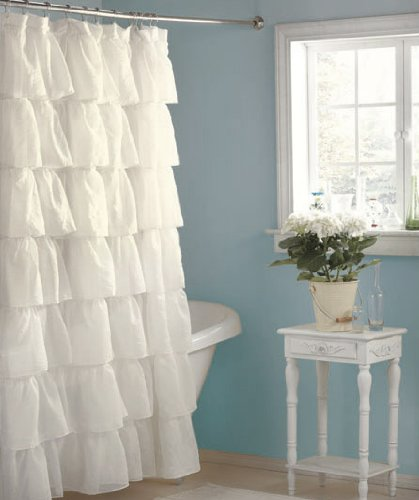 White Tiered Layered Romantic Shabby Chic Elegant Ruffled