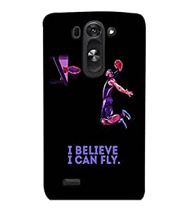 PrintVisa Quotes & Messages Attitude Fly 3D Hard Polycarbonate Designer Back Case Cover for LG G3 BEAT
