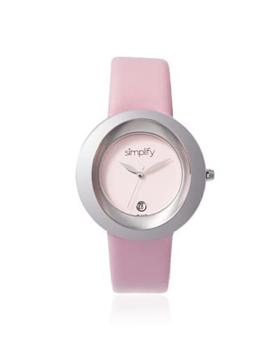 Simplify Women's SIM1502 The 1500 Light Pink Leather Watch