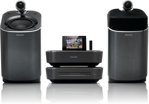 Philips MCi900/12 Wireless Component HiFi System with Full Sound SoundSphere Speaker Technology