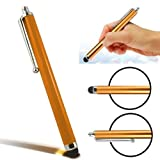 CellBig Introduces Brand New Tangy Orange High Capacitive / Resistive Soft End Touch Screen Stylus Pen Suitable for LG T515 Cookie Duo / Town GT350 / Univa E510 / US760 Genesis / Vu Plus / Wink 3G T320 / Plus GT350i / Style T310 / Cookie Chat Wi-Fi