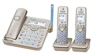 パナソニック デジタルコードレス電話機 子機2台付き 1.9GHz DECT準拠方式 シャンパンゴールド VE-GD53DW-N