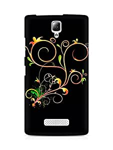 Amez designer printed 3d premium high quality back case cover for Lenovo A2010 (Abstract Dark 23)