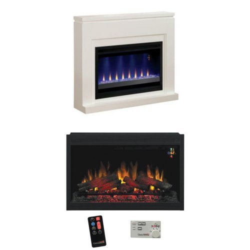 """Complete Set Contemporary Design Builders Mantel With 36"""" 110V Builders Box Traditional"""