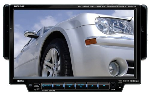 "Boss BV8962 In-Dash 7"" DVD/MP3/CD Widescreen Receiver with USB, SD Card, and Front Panel AUX Input"