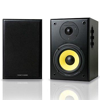 Thonet And Vander - Kurbis Bluetooth - 2.0 Wooden Bookshelf Bluetooth Speakers (Black, Pair) - German Engineering And Design