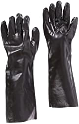 """West Chester 12018 18"""" Chemical Resistant Gloves, Large, Black (Pack of 1 Pair)"""
