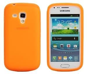 Luxburg® Housse Etui Coque Samsung Galaxy S Duos silicone case TPU Orange