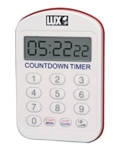 lux kp100 digital keypad timer white kitchen dining. Black Bedroom Furniture Sets. Home Design Ideas