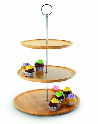 Danesco 3020220 3-Tier Bamboo Server, 12.5 by 18-Inch (Buffet Server 3 Tier compare prices)
