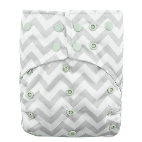 Alva Baby AI2 Color Snap Reuseable Washable Pocket Cloth Diaper Nappy With 2 Inserts CS33 - 1