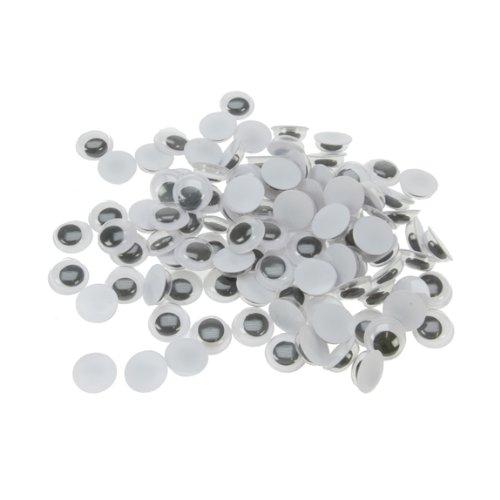 Artstraws - 500 Occhi posticci in plastica per peluche e pupazzi, diametro 100 mm