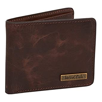 Weird Fish Bulwer Leather Wallet Brown size ONE