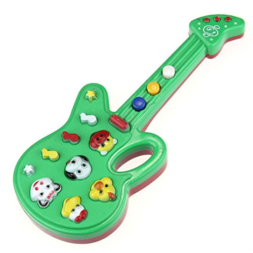 Bestpriceam (Tm) Electronic Guitar Toy Nursery Rhyme Music Children Baby Kids Gift Green