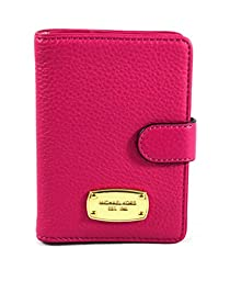 Michael Kors Jet Set Leather Passport Case Holder Fuschia