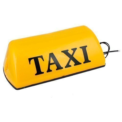 28.5cm x 12.5cm x 9cm Taxi Cab Toiture Panneau Lampe De Clignotant Jaune