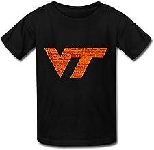 QPL All In Virginia Tech Boys Girls Kids Cotton T Shirt Tee Black