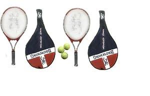 "2x Browning Energy 23"" Junior Tennis Rackets + 3 Head Tennis Balls RRP £56"