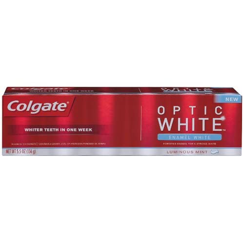 Amazon.com: Colgate Optic White Enamel White Toothpaste, Luminous Mint