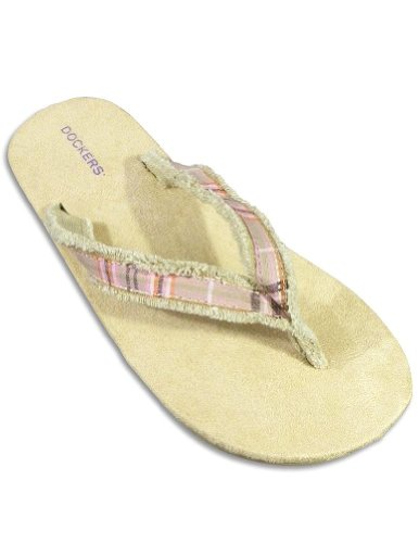 Private Label - Ladies Flip Flop Sandal, Pink, Tan 25025-7
