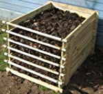 Easy-Load Wooden Compost Bin - Small...
