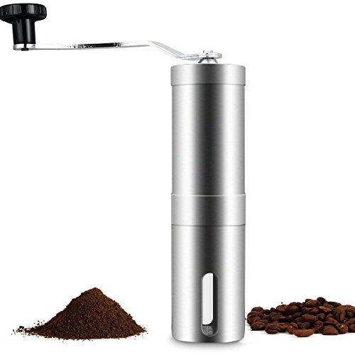 New Ottiman Manual Coffee Grinder adjustable Stainless Steel