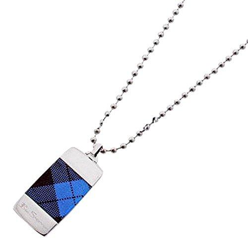 ben-sherman-blue-tartan-gents-dog-tag-pendant-on-20-inch-ball-chain-r81539bs
