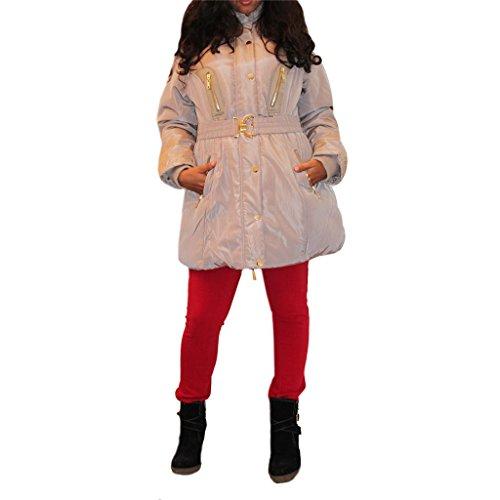 Waooh - Fur Hooded Jacket Avaga - Beige, Xxl