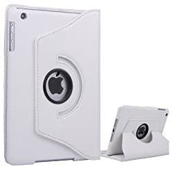 QQ-Tech Apple iPad Air / iPad 5 Case 360 Degrees Rotating Case Smart Cover Stand (White)