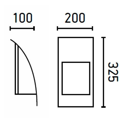 Faro 72270 - ERIO Lampe applique gris foncé