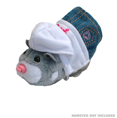 Zhu Zhu Pets Stylin' Outfit White Hoodie with Glasses