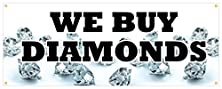 buy We Buy Diamonds Banner Jeweler Watches Rings Retail Store Sign 48X120