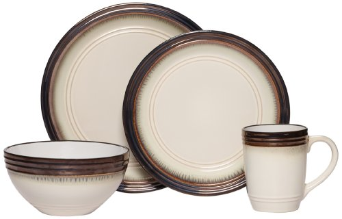 Mikasa Gourmet Basics Bailey 16-Piece Dinnerware Set, Service for 4