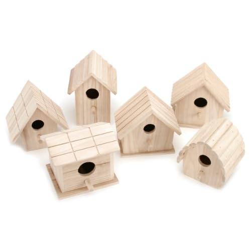 Darice Wooden Birdhouse-1 of 6 Assorted Styles