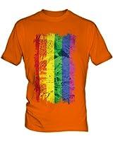 Gay Pride Grunge Flag - Mens T-Shirt Top