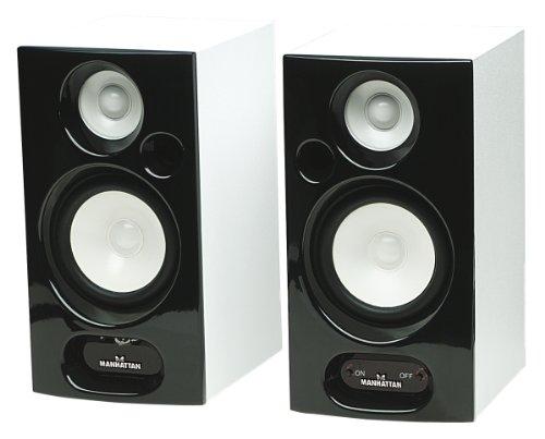 MANHATTAN 2800 Bluetooth Lautsprecher Zwei-Wege Lautsprecher 2x 5 W Bluetooth Vollspektrum-Klang Klavierlack-Oberflaeche
