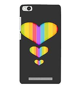 PrintVisa Colorful Heart Design 3D Hard Polycarbonate Designer Back Case Cover for Xiaomi Redmi 3S