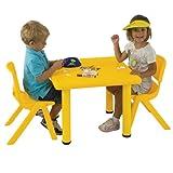 """Ecr4kids 24"""" Square Resin Kids Table Blue ~ ECR4Kids"""
